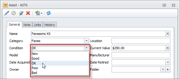 Assets Database Template Asset Form
