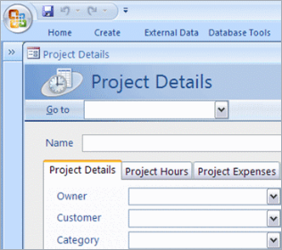 microsoft access client database template - using microsoft access template for creating database